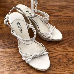 Micheal Kors Braided Strappy Sandal Wedge Heels
